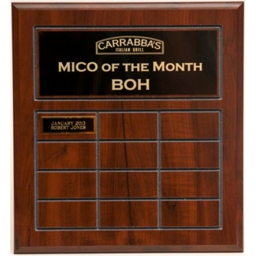 Wooden Perpetual Award Plaque
