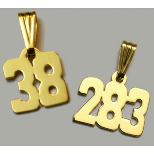 Motocross charm custom number in 14kt gold mx119 121 home motocross charm custom number aloadofball Image collections