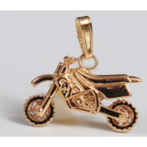 Motocross Pendant Gold Mini Mx104 105