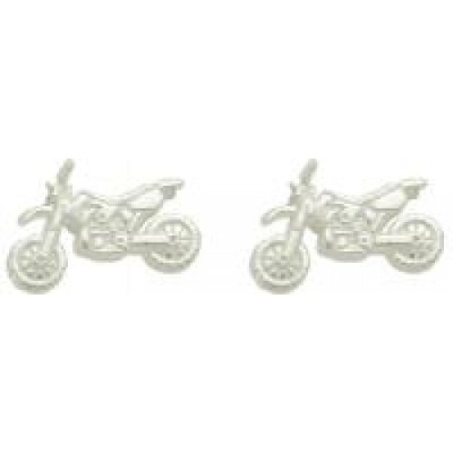 Motocross Earrings Gold Post Mx147