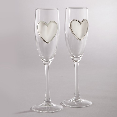 G172 Pair Champagne Glass Flutes